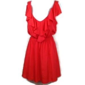My Michelle Size M Mini-Dress Ruffled Neckline